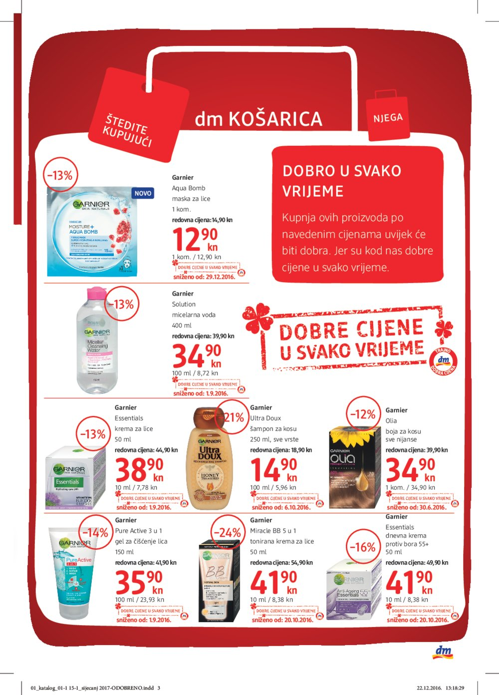 Dm Katalog Dobre cijene u svako vrijeme do 15.1.2017.