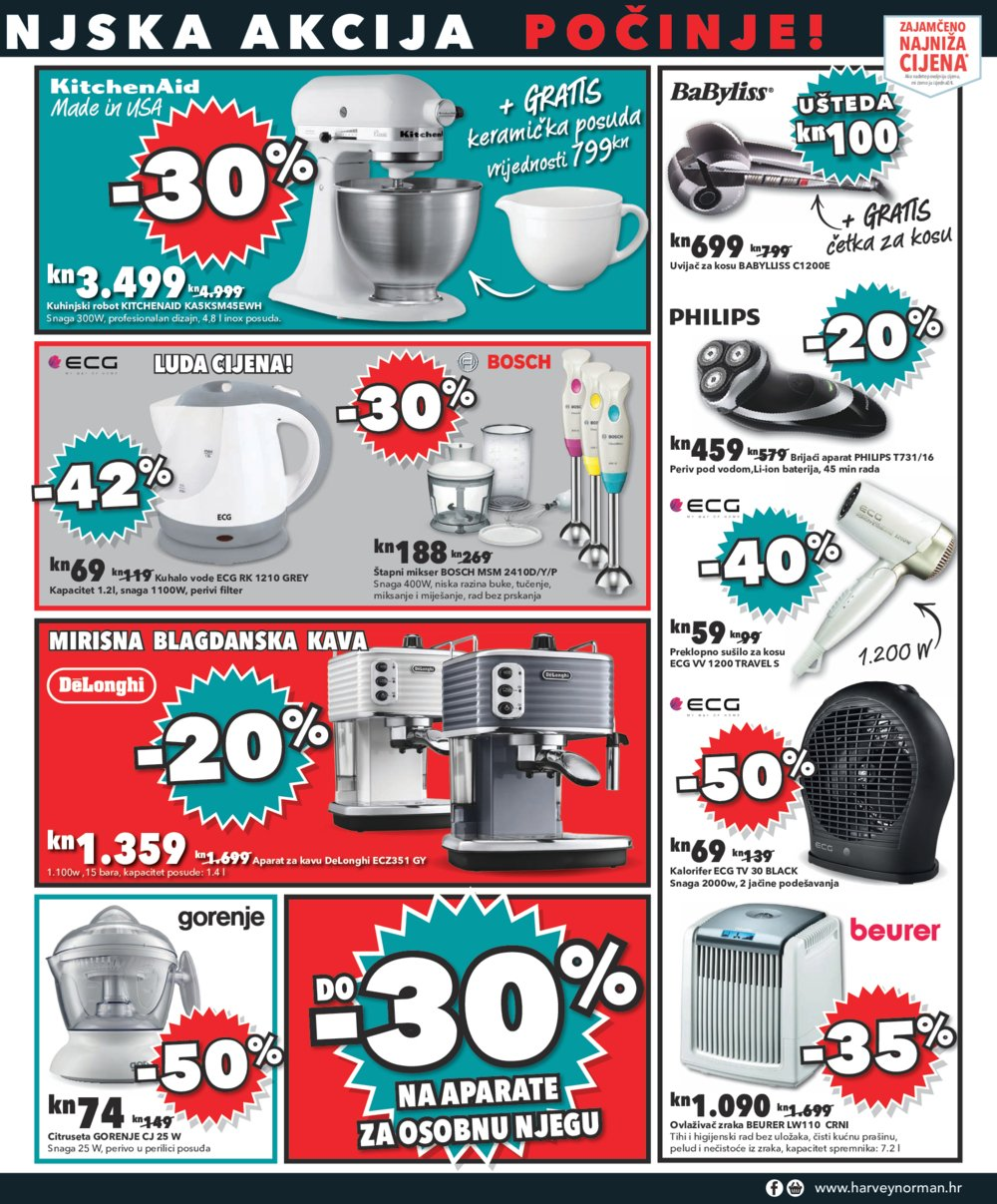 Harvey Norman katalog Velika siječanjska akcija 2017. do 11.1.2017.