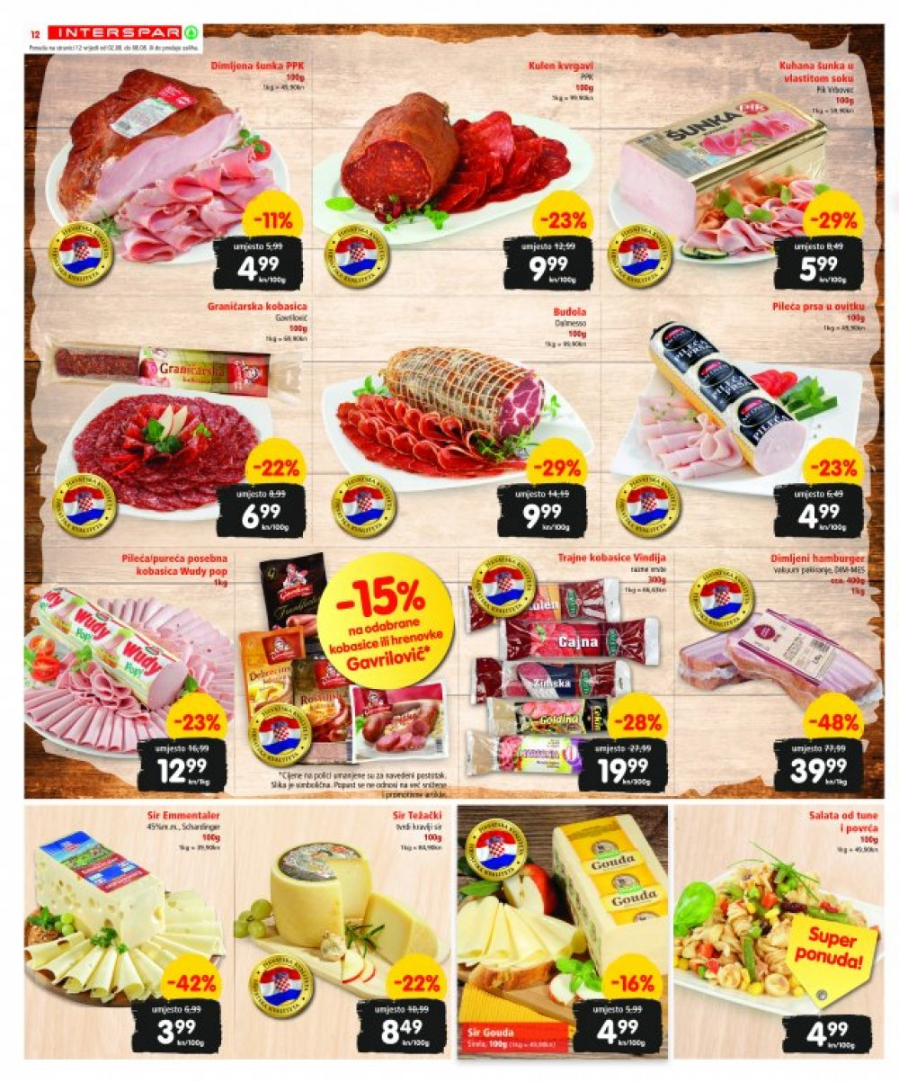 Interspar katalog Akcije od 02.08. do 15.08.2017.