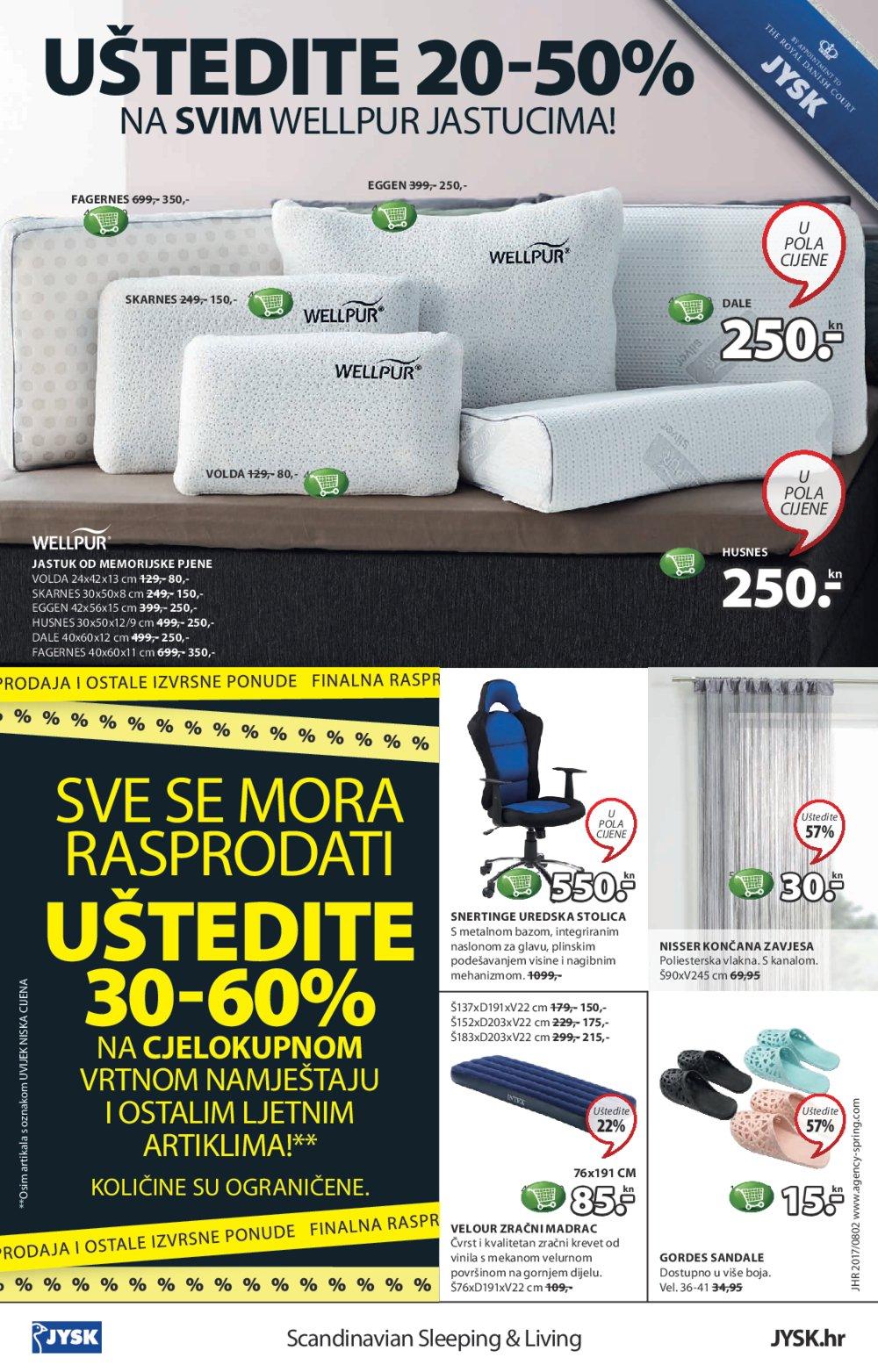 JYSK katalog Super tjedan od 10.8.2017. do 23.8.2017.