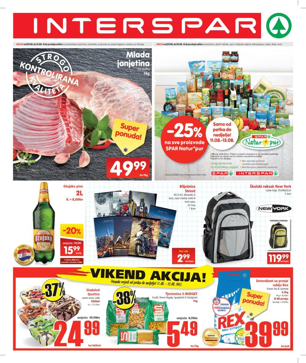 Interspar katalog Akcija 09.08.-22.08.2017.