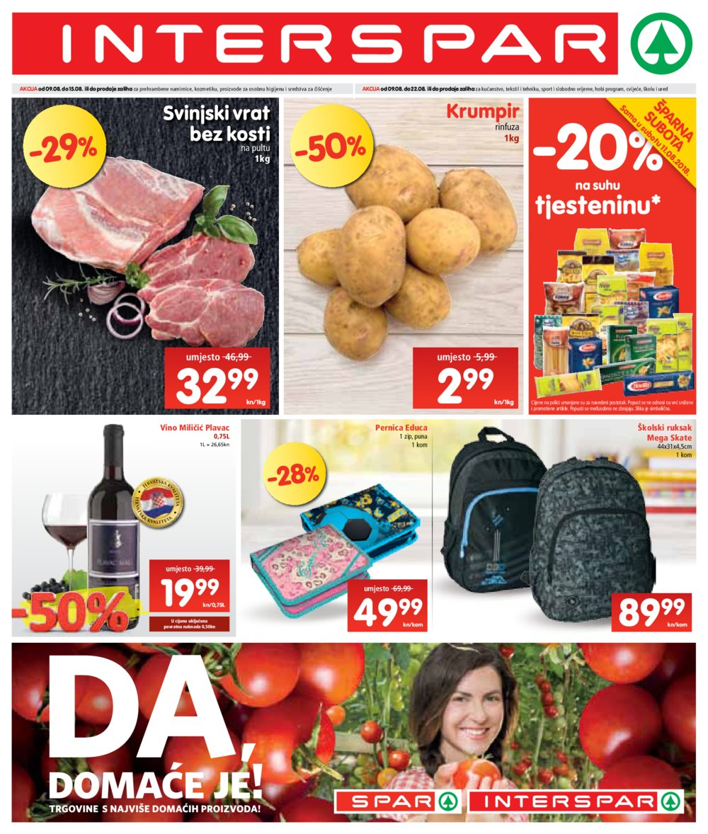 Interspar katalog Akcija 09.08.-22.08.2018.