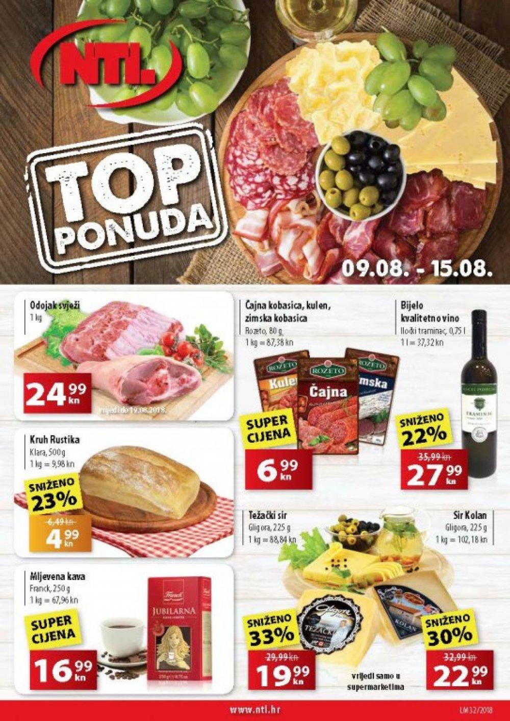NTL katalog Akcija Zapad Supermarketi od 09.08. do 15.08.2018.