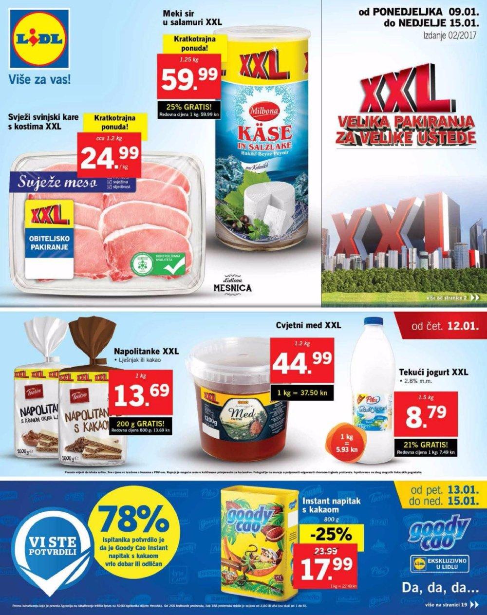 Lidl katalog XXL do 15.1.2017.