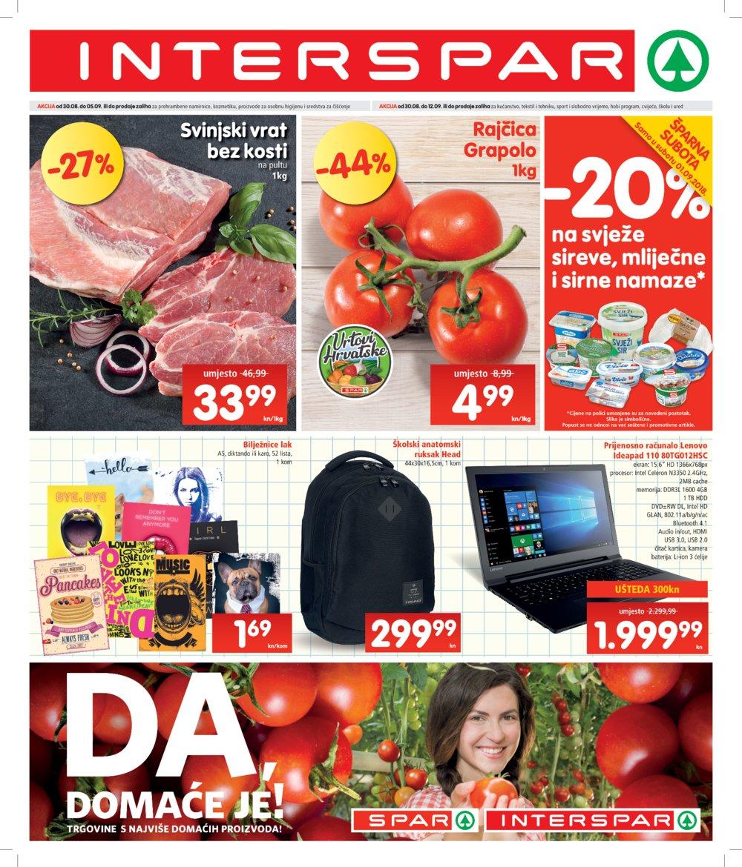Interspar katalog Akcija 30.08.-12.09.2018.