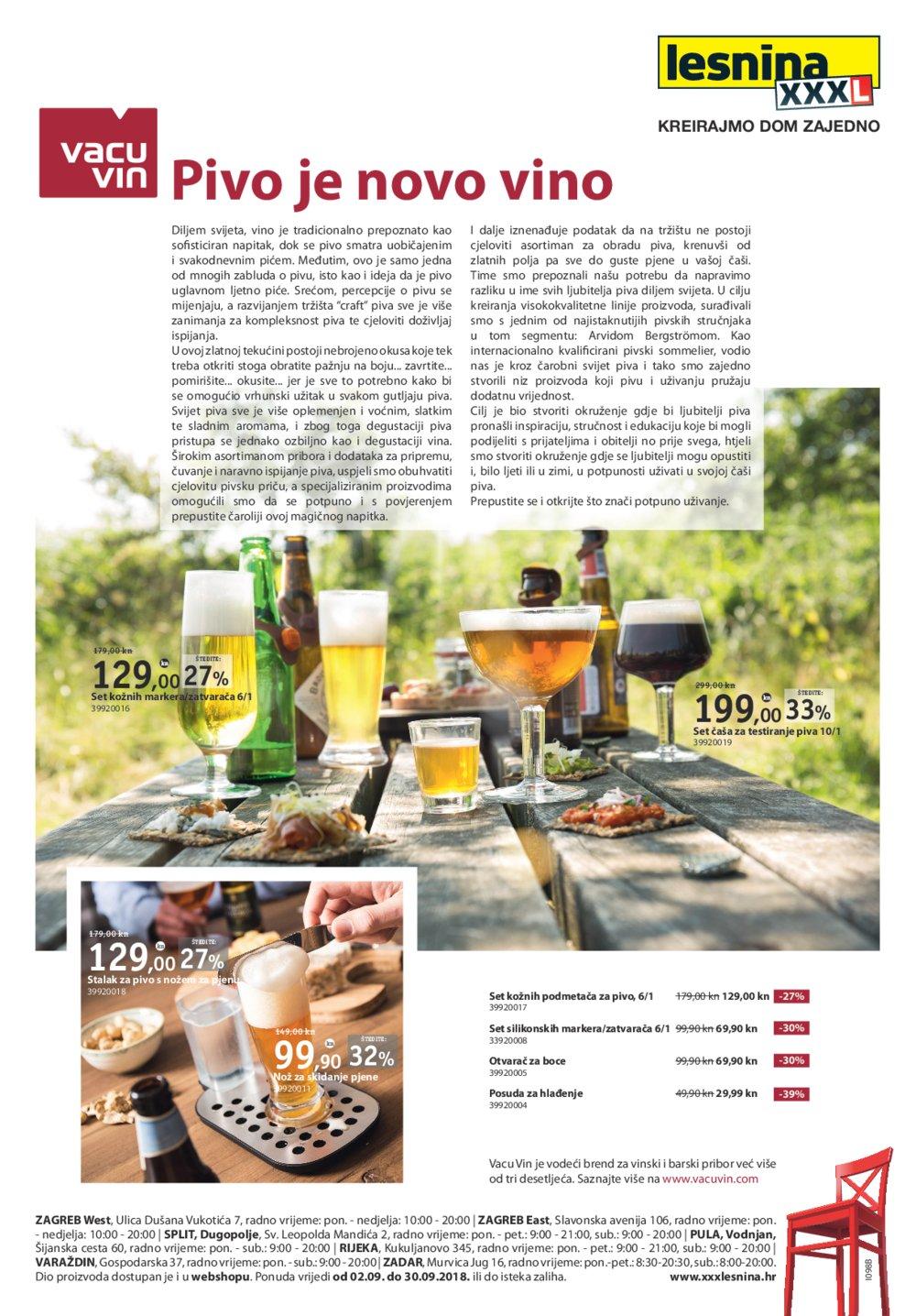 Lesnina letak Pivo je novo vino 02.09.-30.09.2018.
