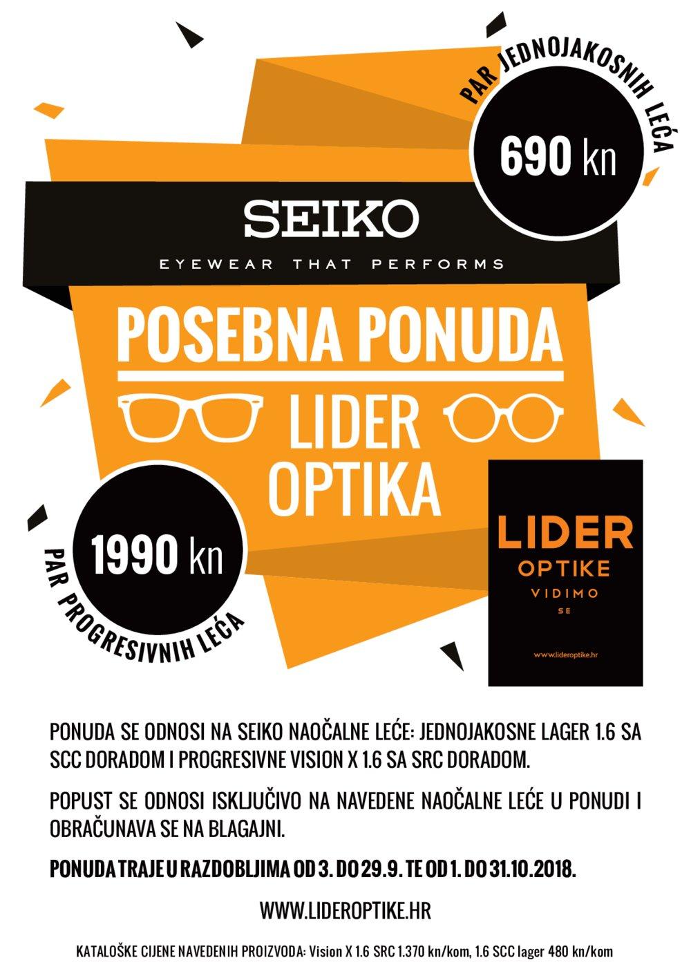 Optika Nataša letak Posebna ponuda 01.10.-31.10.2018.