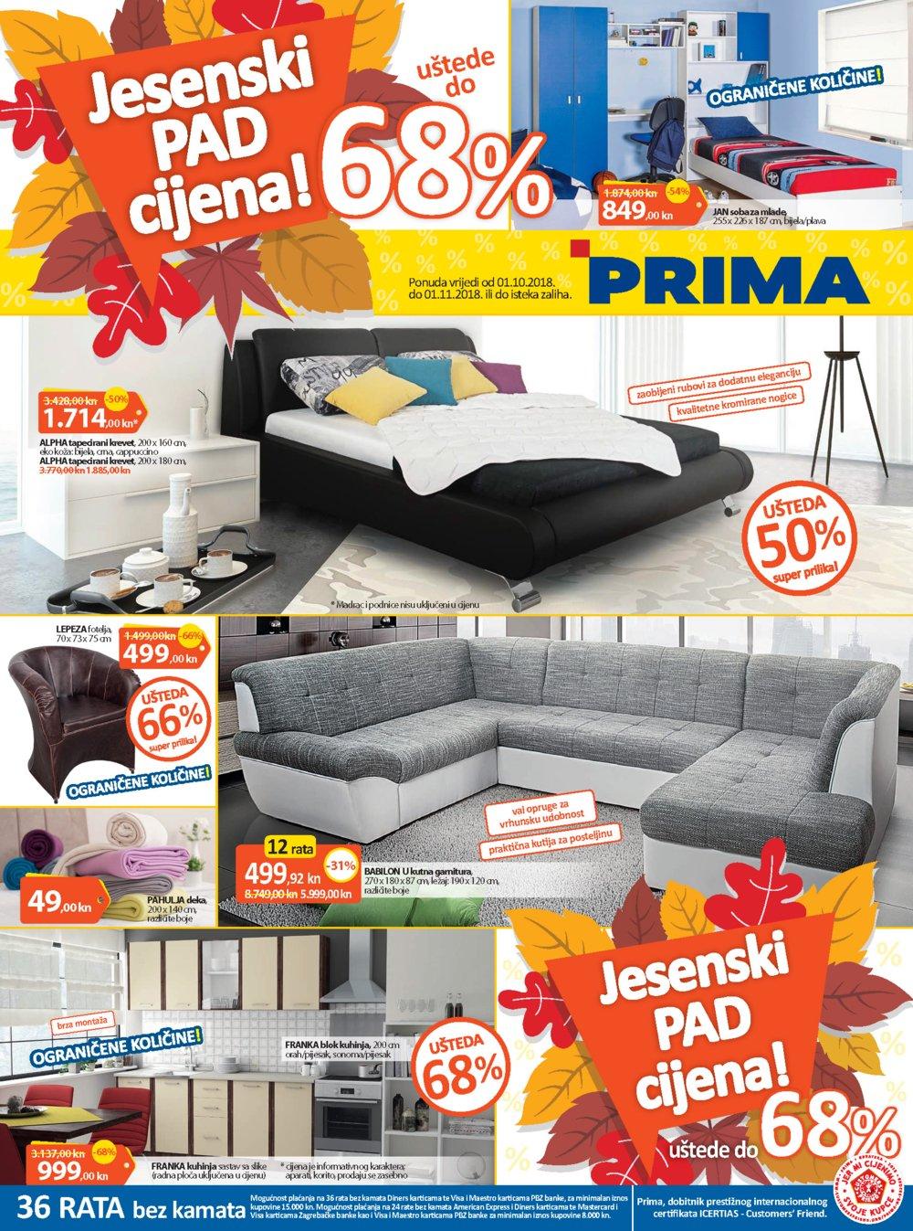 Prima katalog Jesenski pad cijena! 01.10.-01.11.2018.
