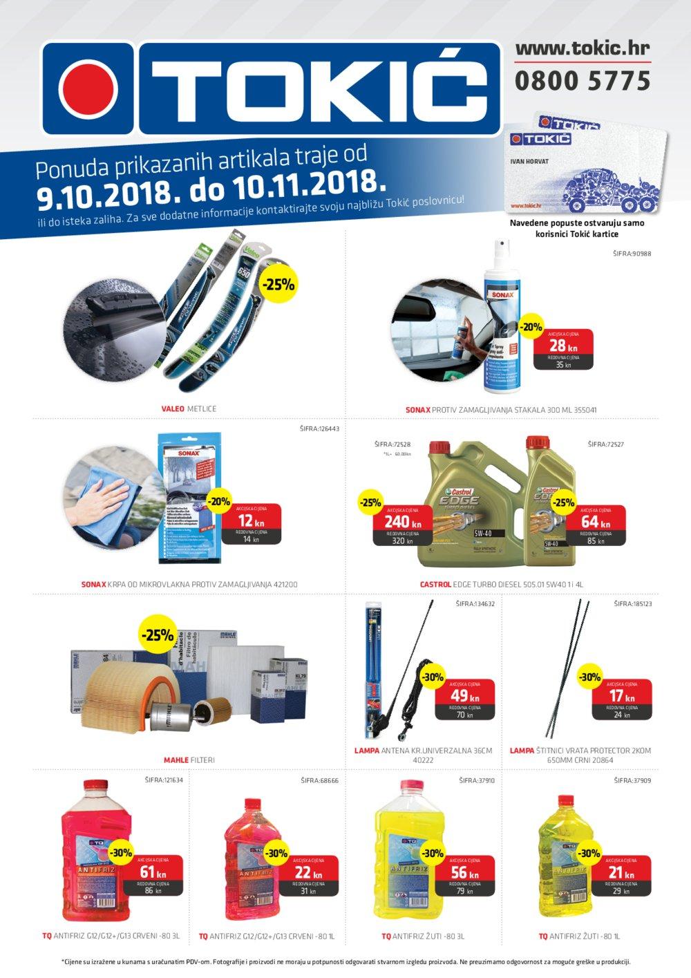 Tokić katalog Akcija 9.10.-10.11.2018.