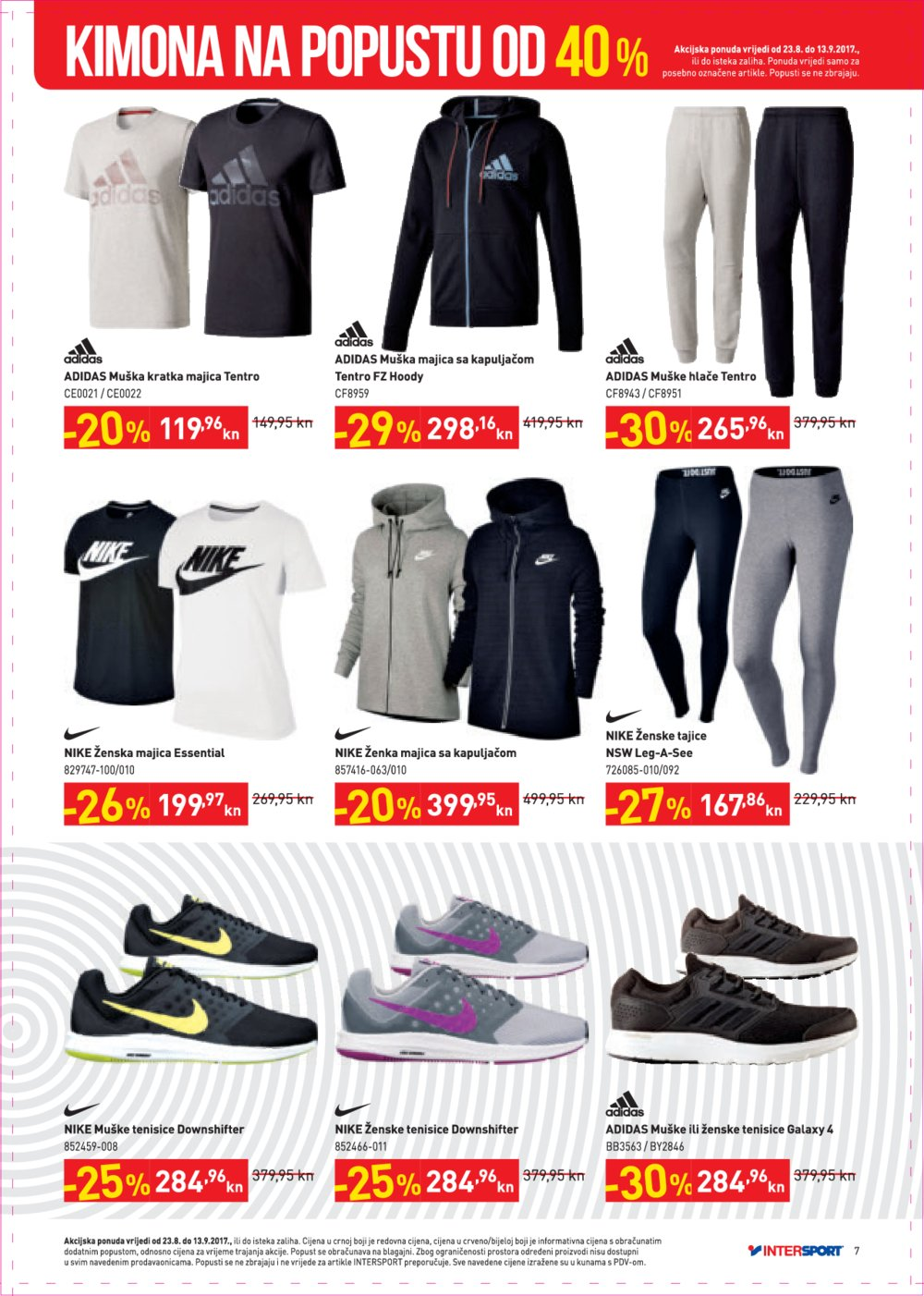 Intersport katalog Natrag u školu od 23.08. do 13.09.2017.