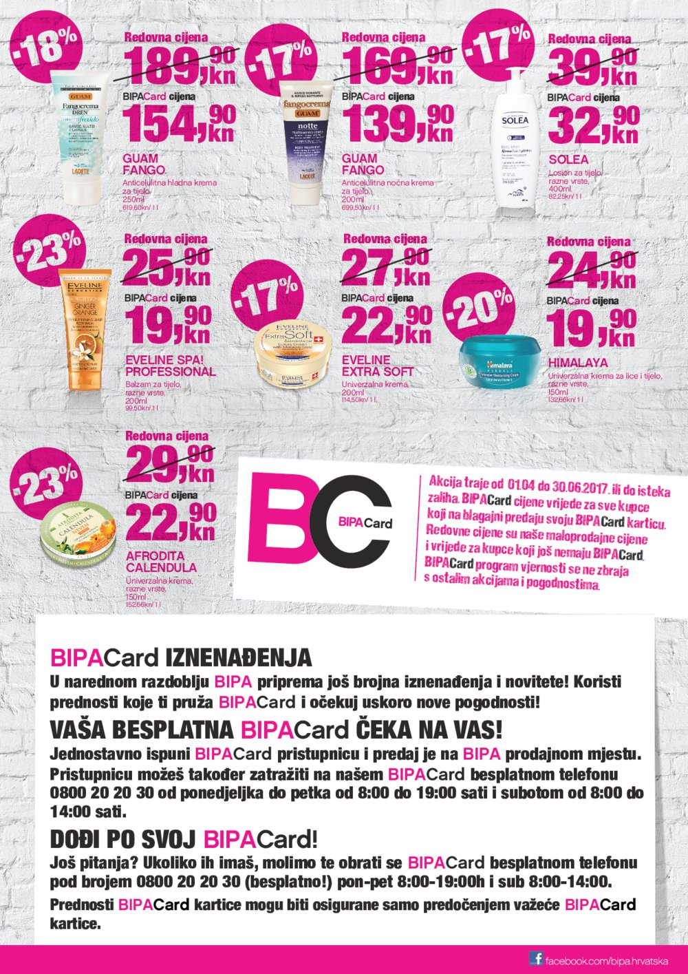 Bipa katalog Bipa Card akcija od 01.04. do 30.06.2017.