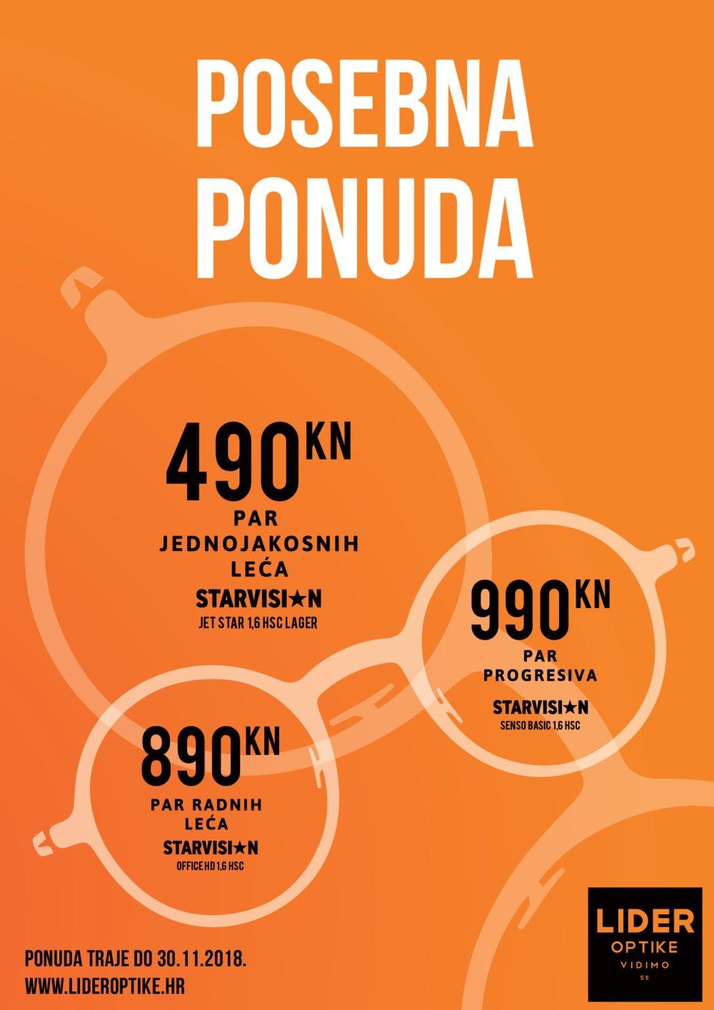 Lider Optika letak Posebna ponuda 31.10.-31.12.2018.
