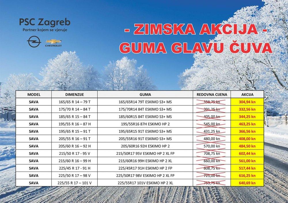 PSC Zagreb Sava Zimska Akcija do 20.03.2019. ili do isteka zaliha