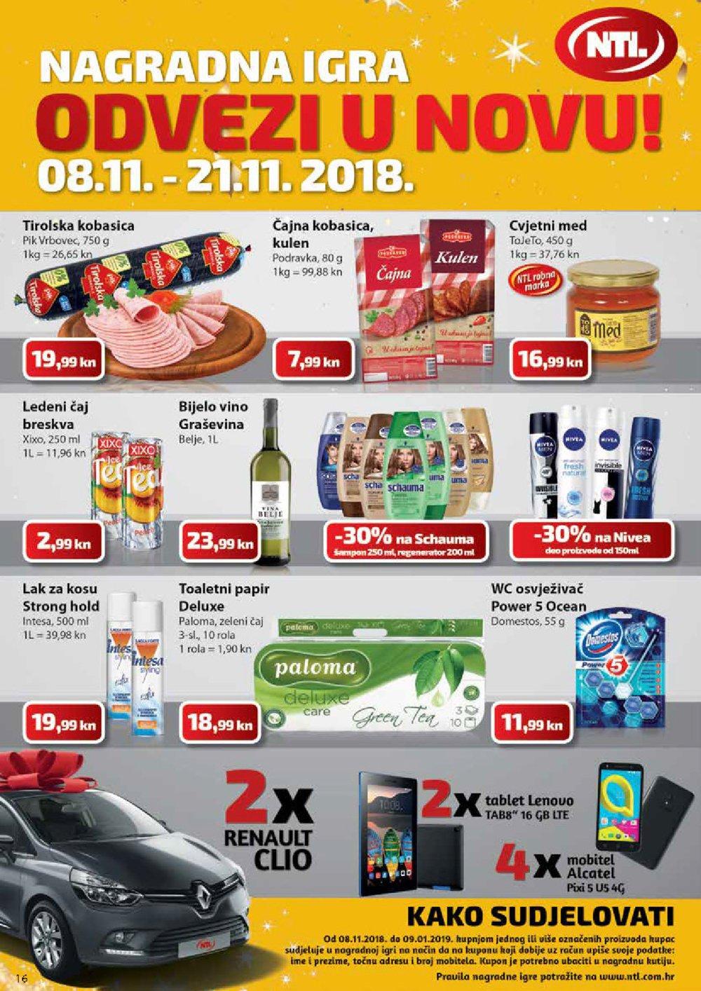 NTL katalog Akcija 08.11.2018.-14.01.2019. u pojedinim prodajnim mjestima