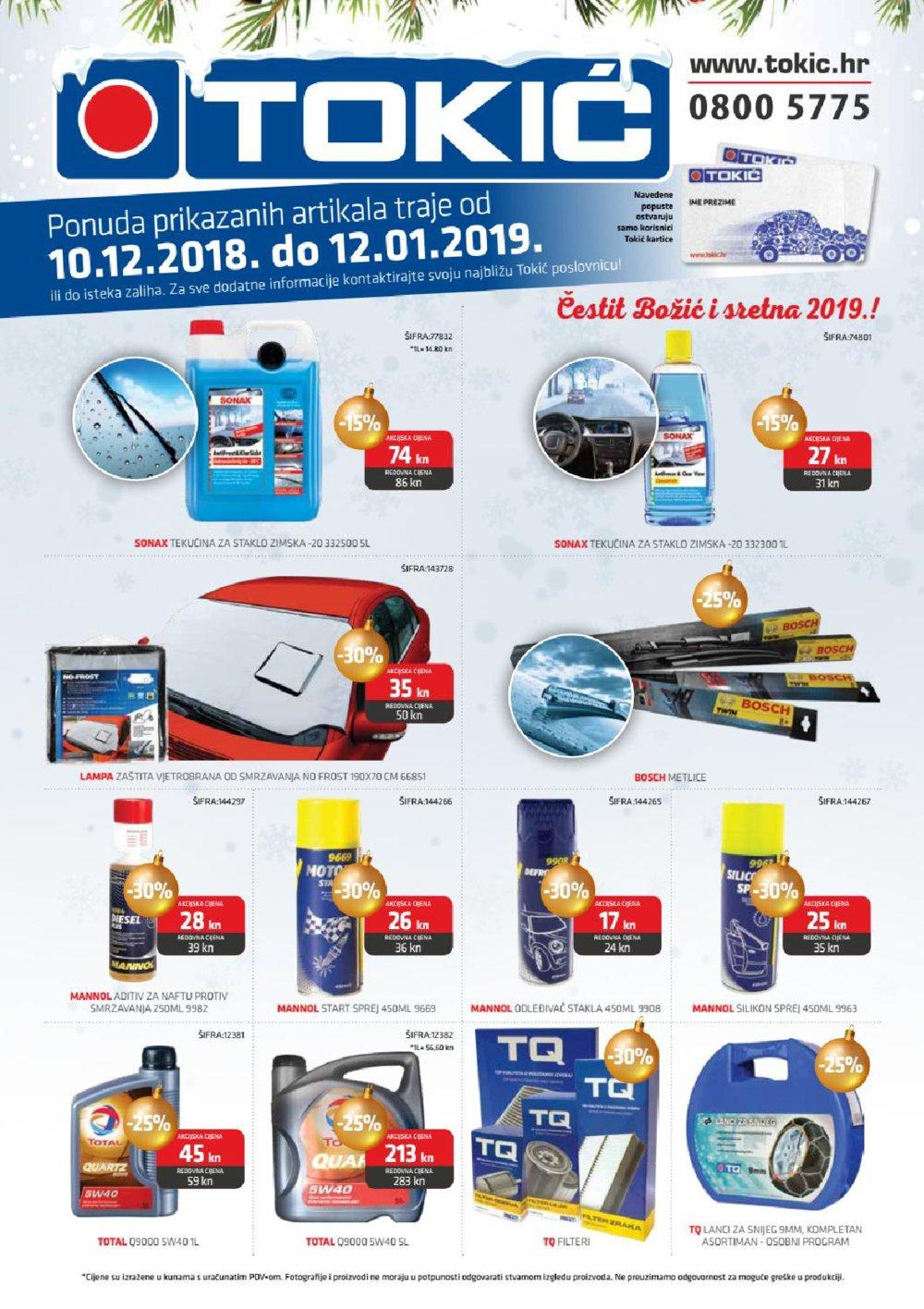 Tokić katalog Akcija 10.12.-12.01.2019.