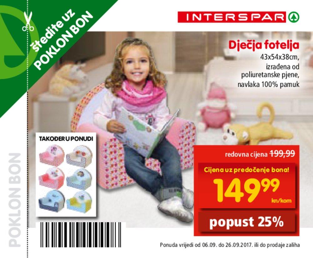 Interspar poklon bonovi od 06.09.2017. do 26.09.2017.
