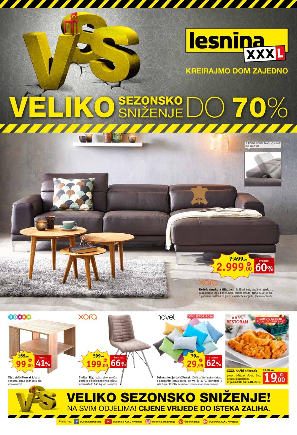 Lesnina katalog Veliko sezonsko sniženje Zg i Pu 08.01.-17.01.2019.