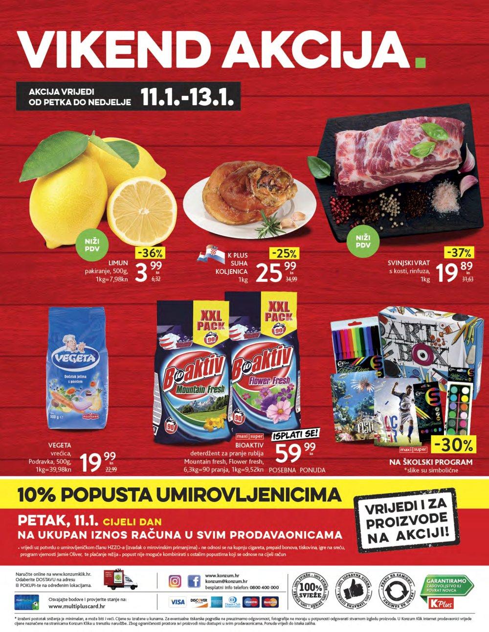 Konzum katalog Akcija 10.01.-16.01.2019.
