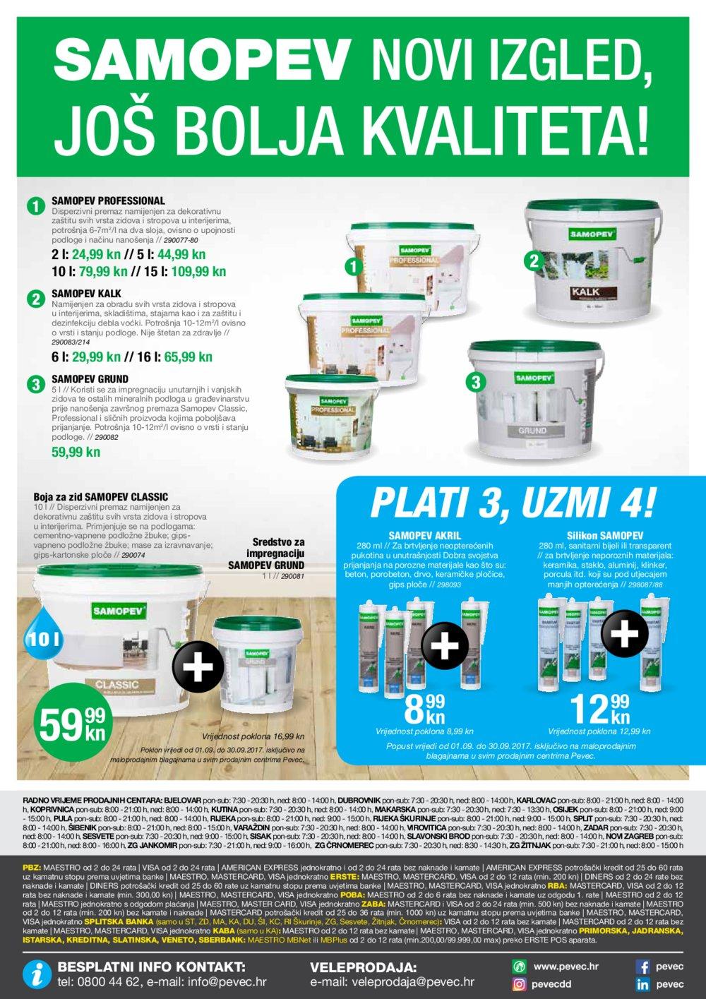 Pevec katalog Super ponuda 07.09.-30.09.2017.