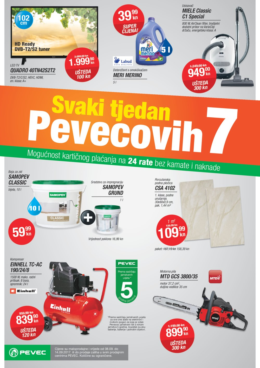 Pevec letak Svaki tjedan Pevecovih 7 08.09.-14.09.2017.