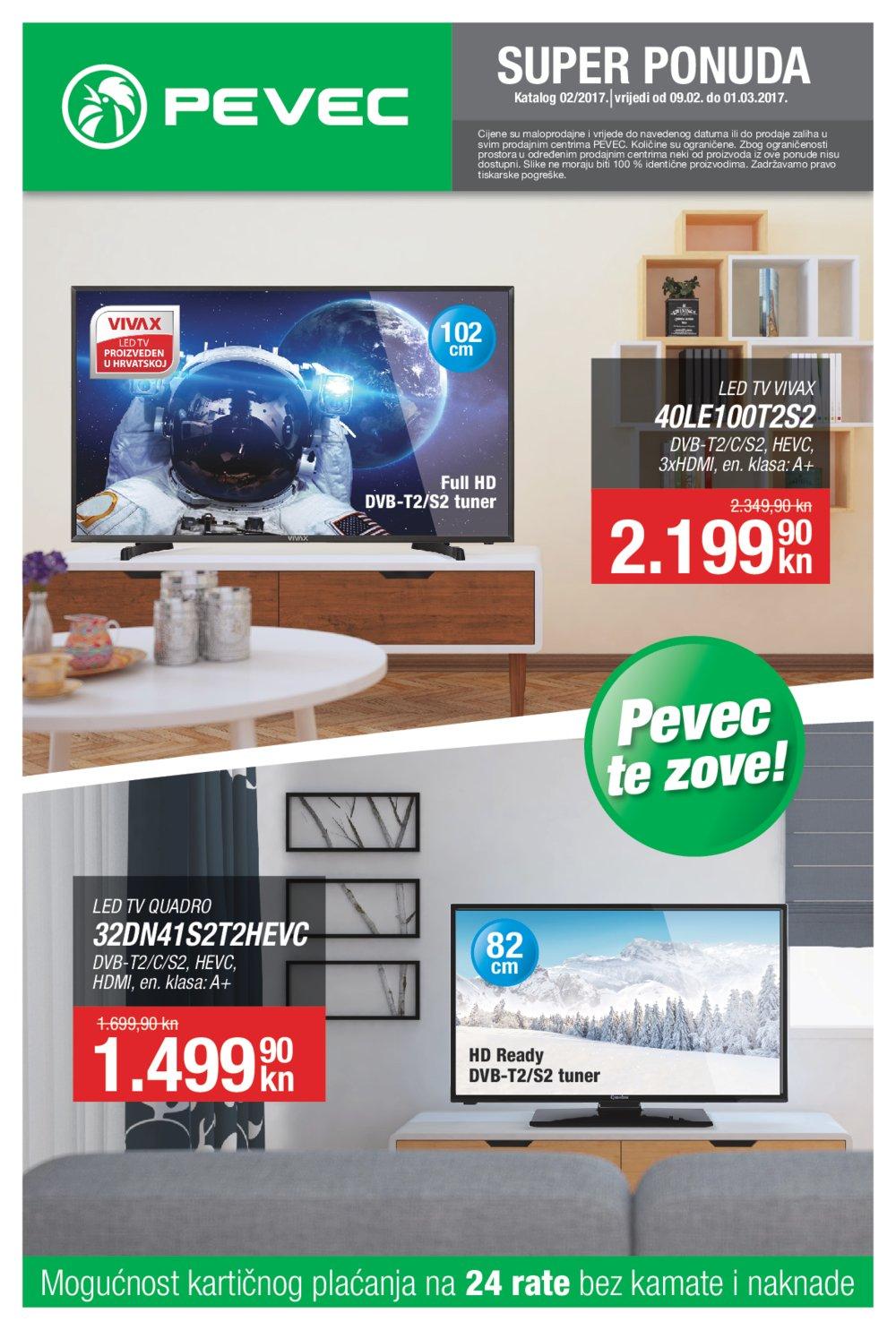 Pevec katalog Super ponuda do 1.3.2017.
