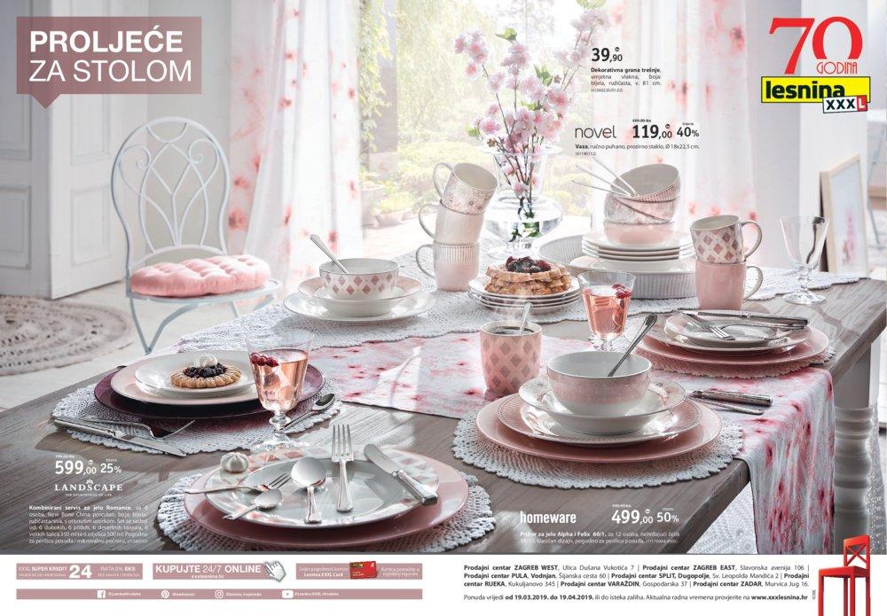 Lesnina letak Proljeće za stolom 19.03.-19.04.2019.