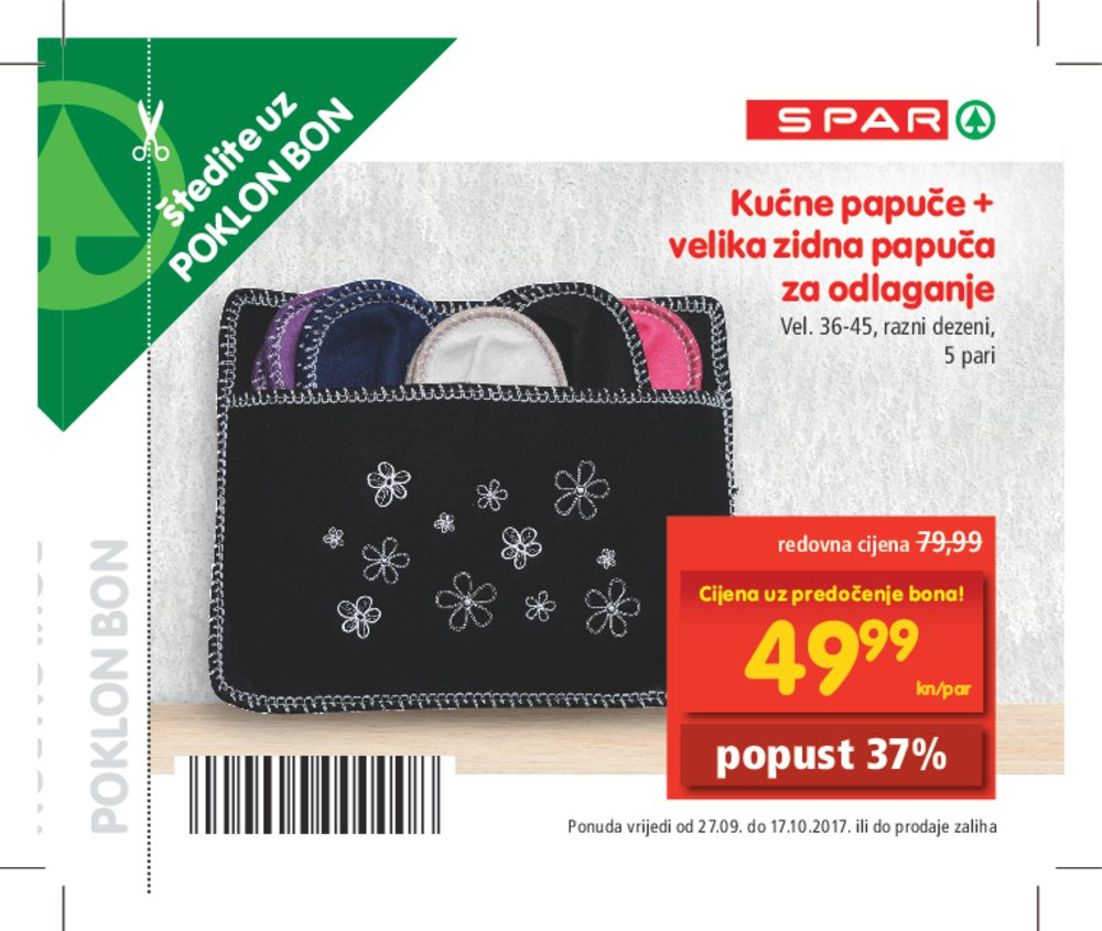 Spar katalog bonovi od 27.09. do 17.10.2017.