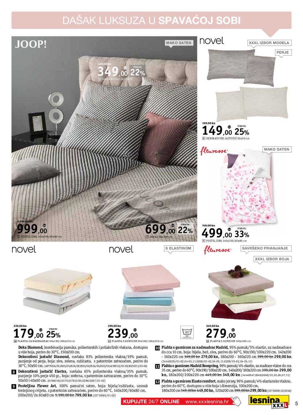 Lesnina katalog Akcija Najljepši snovi 02.05.-31.05.2019.