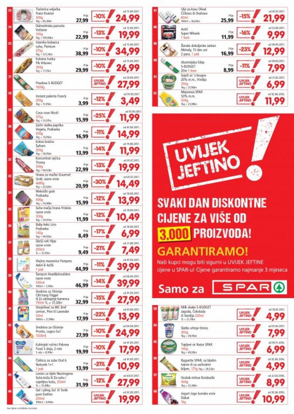 Spar katalog Uvijek jeftino od 27.09. do 31.10.2017