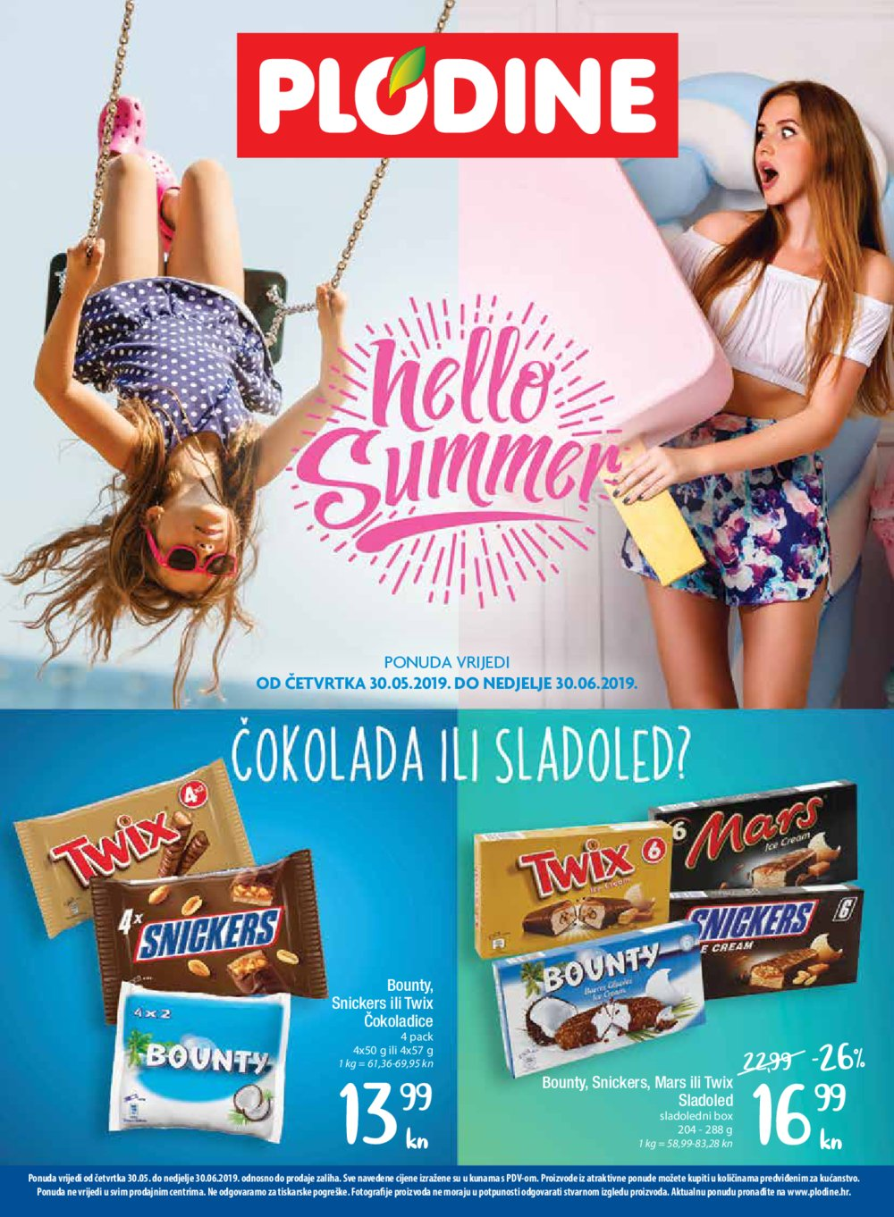 Plodine Hello Summer Akcija 30.05.-30.06.2019.