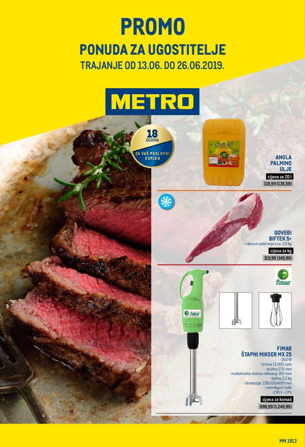 Metro katalog promo ponuda za ugostitelje 13.06.-26.06.2019.