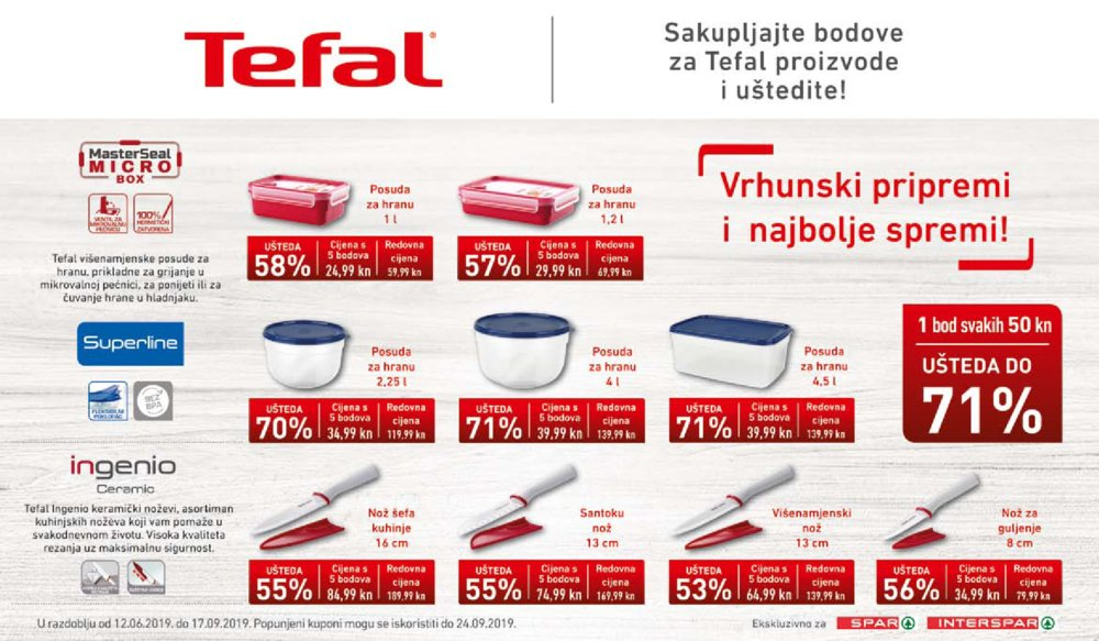 Interspar katalog Tefal priprema 12.06.-24.09.2019.