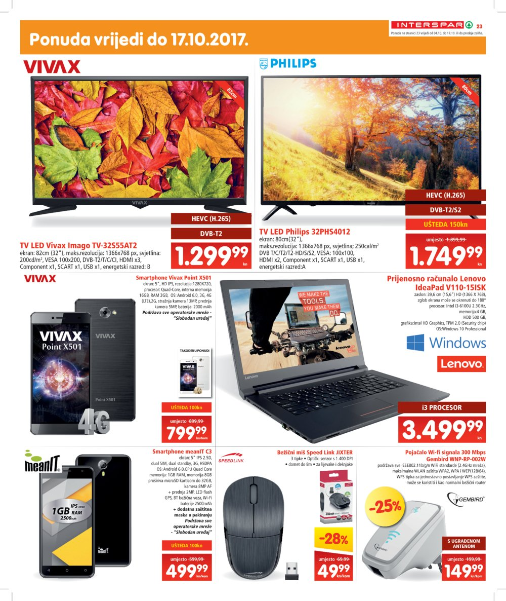 Interspar katalog Akcija od 04.10. do 17.10.2017.