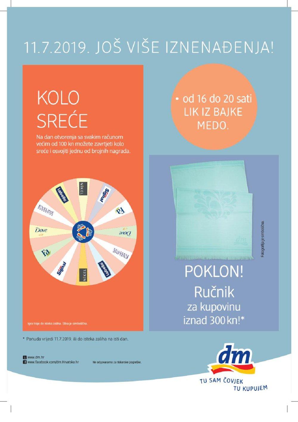 DM katalog poslovnica Knežija 11.07.-13.07.2019.