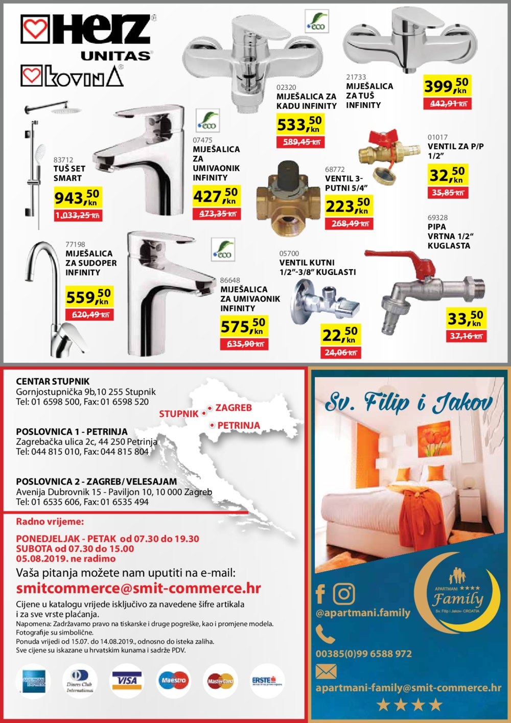 Smit Commerce katalog Sve za gradnju i opremanje stana 15.07.2019.-14.08.2019.