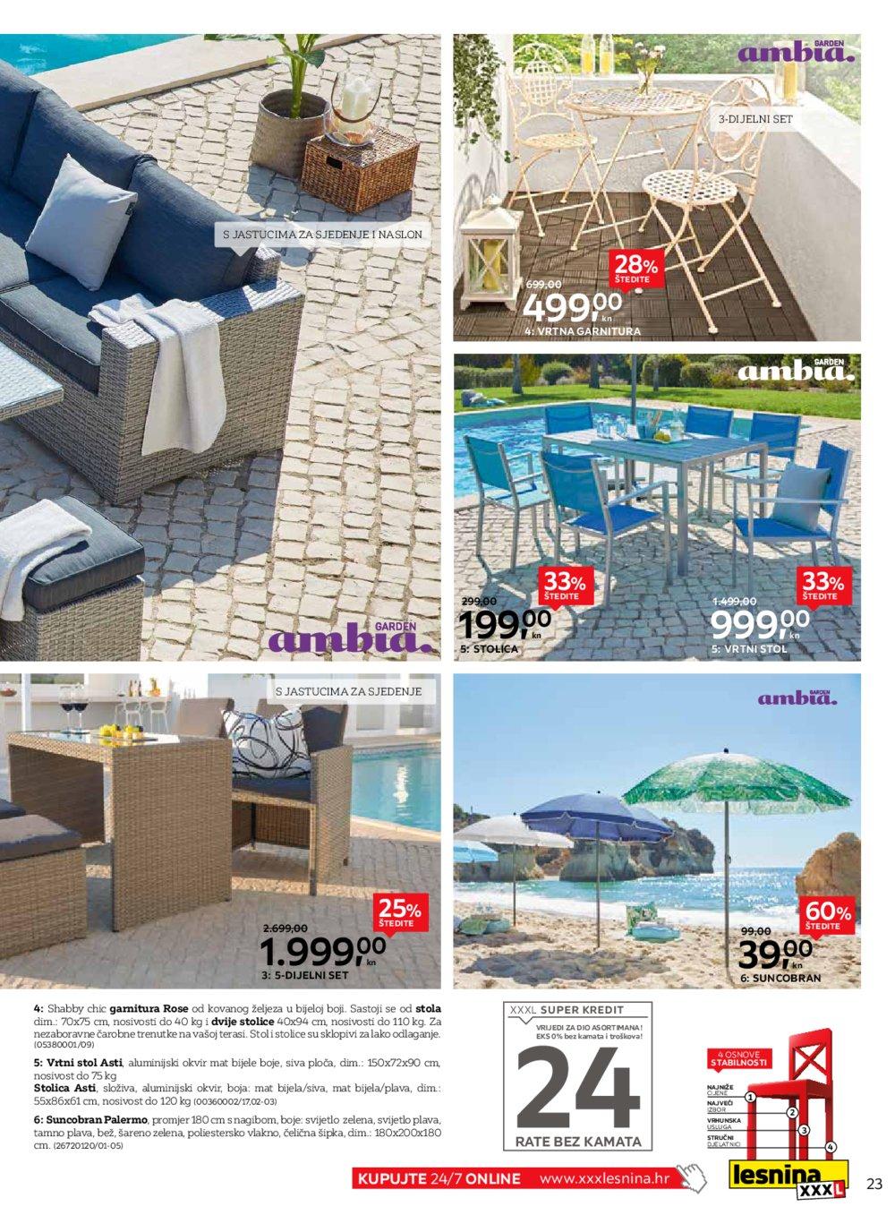 Lesnina katalog Akcija Split Varaždin Zadar Rijeka Čakovec 16.07.-29.07.2019.
