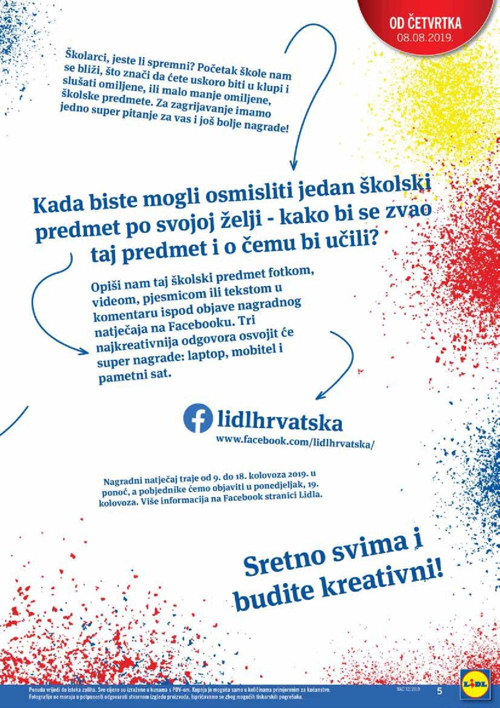 Lidl katalog Školarci genijalci 08.08.-31.08.2019.