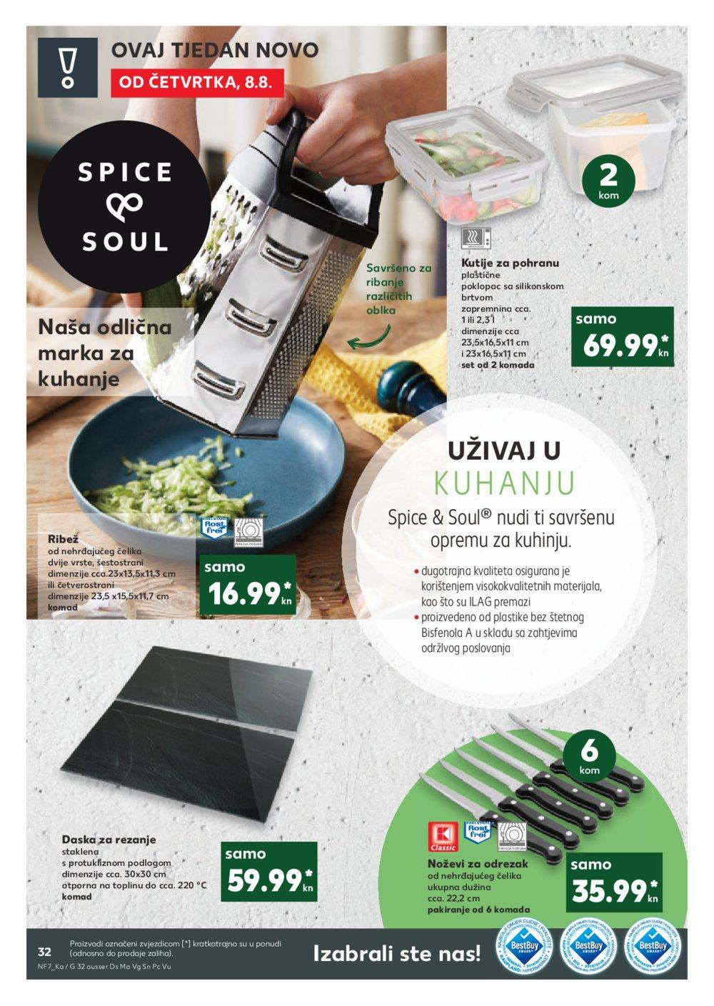 Kaufland katalog Akcija 08.08.-13.08.2019. Pu, Ši, Tr, Um, Zd, Zd Sinjoretovo