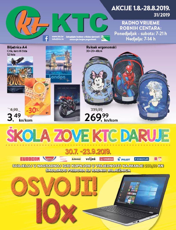 KTC školski asortiman 01.08.2019.-28.08.2019.