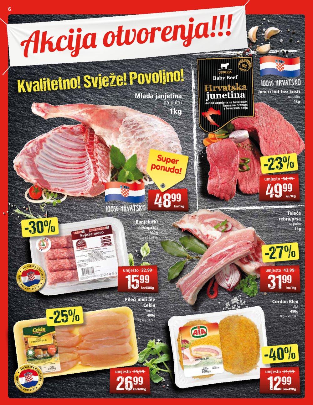 Spar katalog Akcija otvorenja Spar supermarketa Martinkovac Rijeka 16.08.-27.08.2019.