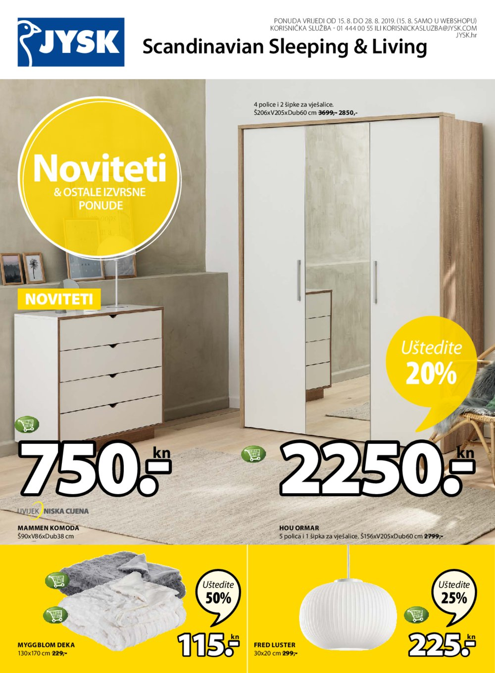 Jysk katalog Akcija 15.08.2019.-28.08.2019.