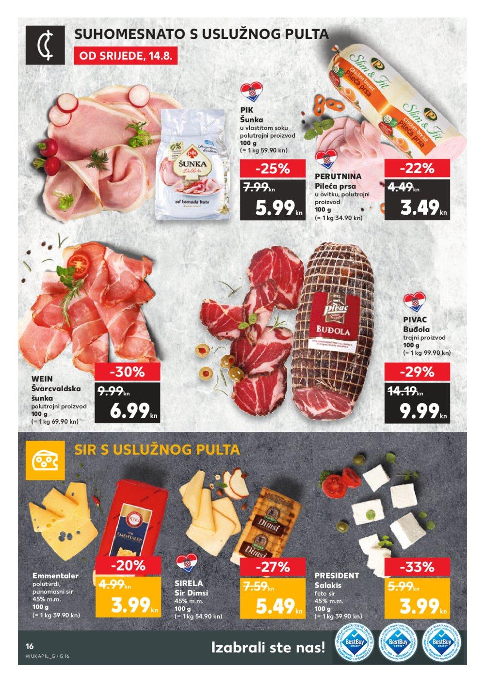 Kaufland katalog Akcija 14.08.-21.08.2019. DS, Sinj, VG,VU