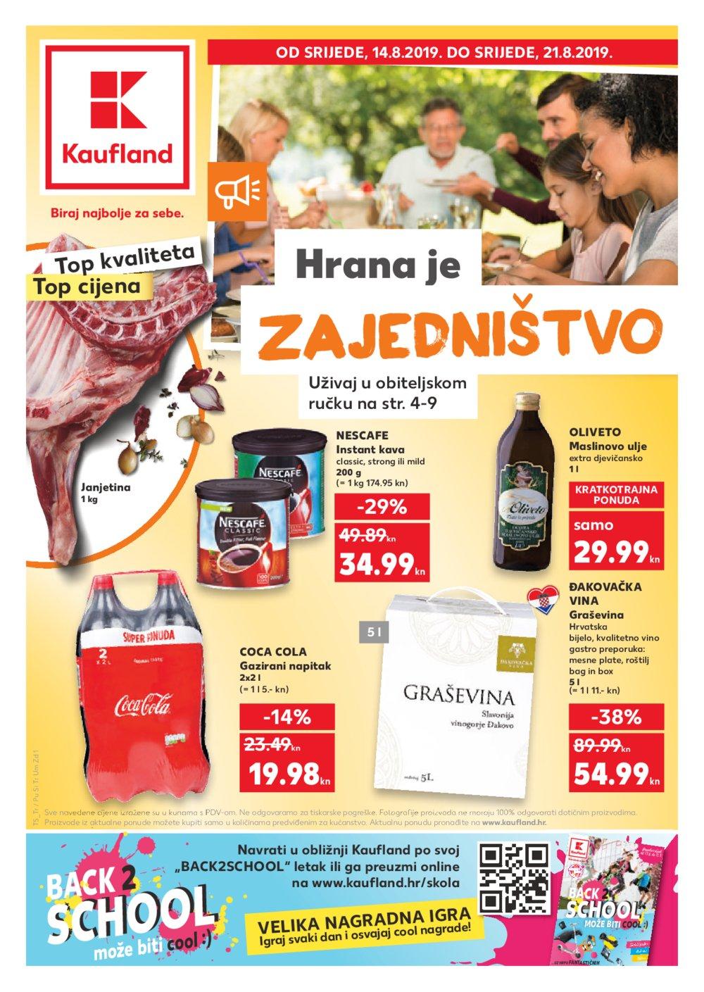 Kaufland katalog Akcija 14.08.-21.08.2019. Pu, Ši, Tr, Um, Zd, Zd Sinjoretovo