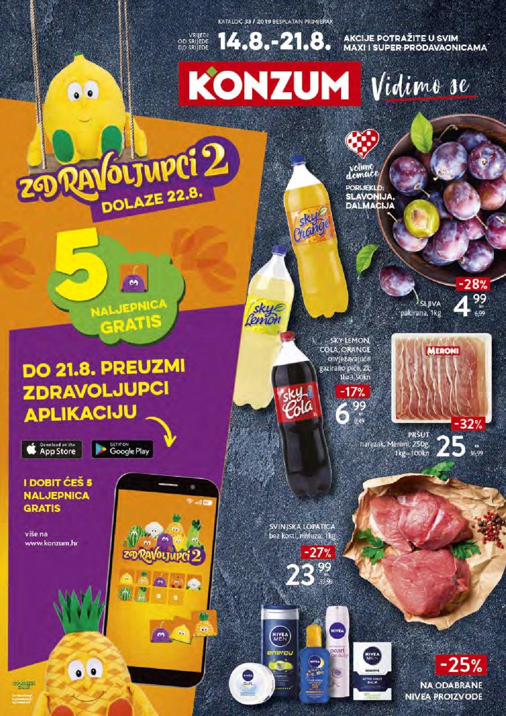 Konzum katalog Akcija 14.08.2019.-21.08.2019.