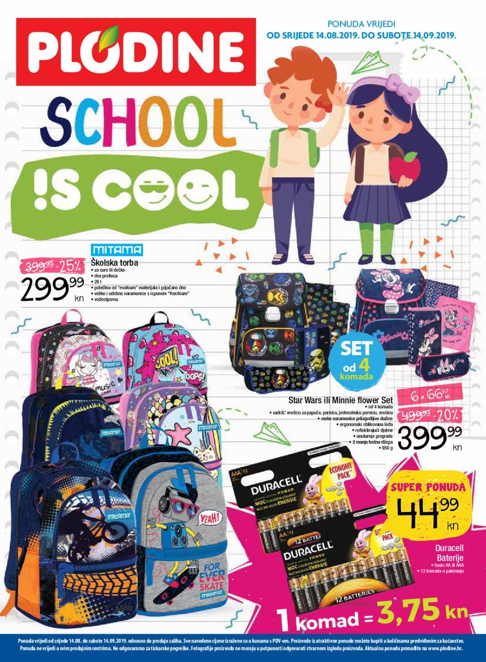 Plodine katalog School is cool 14.08.-14.09.2019.