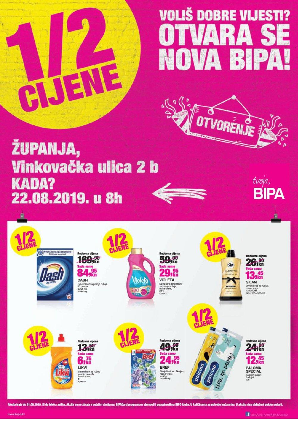 Bipa katalog Otvorenje Županja 22.08.-05.09.2019.