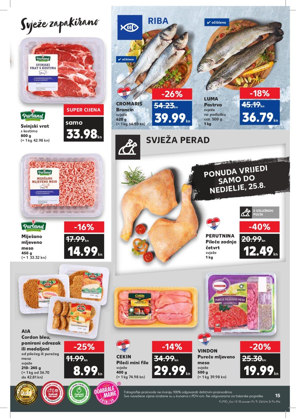 Kaufland katalog Akcija 22.08.-28.08.2019. Đk Ng Os Pž Sb Vin Vir