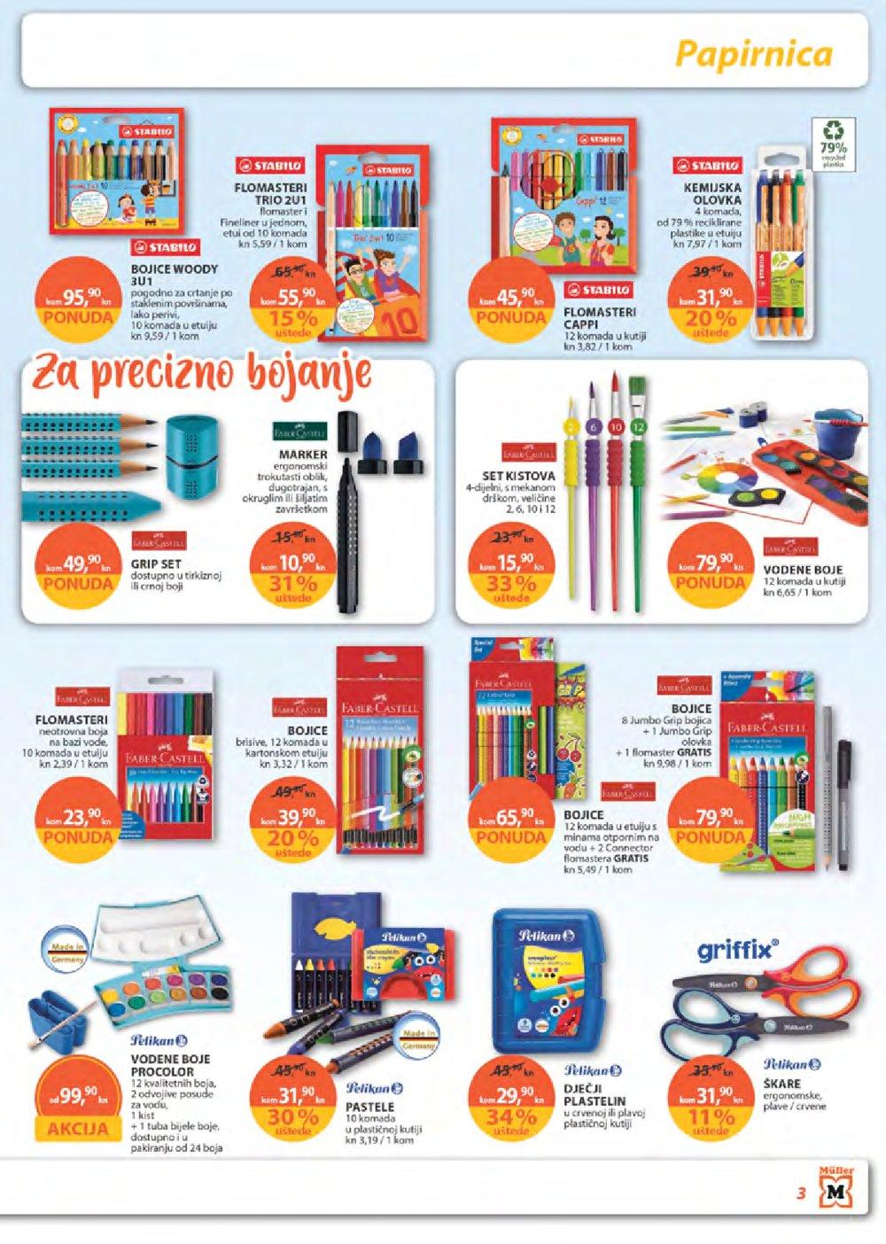 Muller katalog Sve za školu 22.08.-28.08.2019.