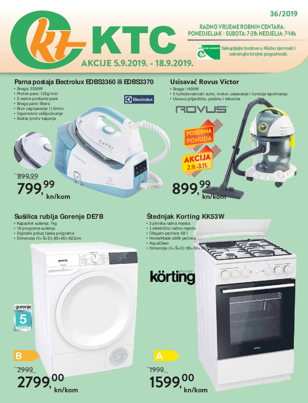 KTC katalog Akcija 05.09.-18.08.2019.