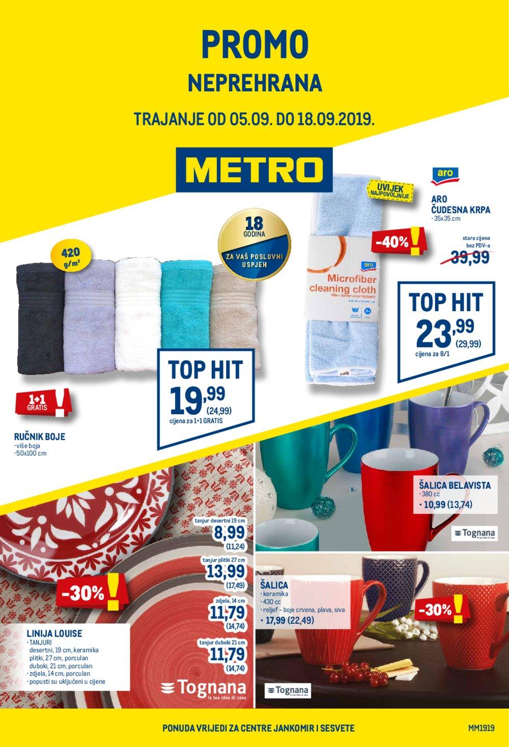 Metro katalog posebna ponuda neprehrane 05.09.-18.09.2019.